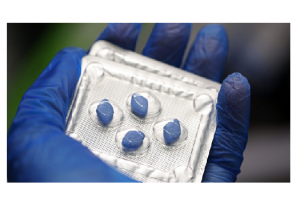 A blister pack containing Pfizer's Viagra tablets is seen in London.
