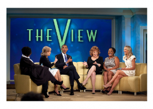 Photo Credit: Wikipedia - President Barack Obama records an episode of The View at ABC Studios in New York, N.Y. with Barbara Walters.