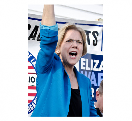 Photo Credit: Tim Pierce - Elizabeth Warren at a campaign rally in Auburn, Massachusetts, Nov 2, 2012.  Source -https://www.flickr.com/photos/qwrrty/8152000438/
