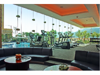 Photo Credit: Wikimedia Commons - Fitness center with Floor-to-ceiling window in Sofitel Macau.