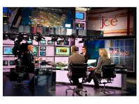 """Photo credit: Wikimedia Commons-Joe Scarborough, second from right, the host of the MSNBC program """"Morning Joe."""