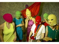 Photo credit: Wikipedia - Seven members of the band Pussy Riot.