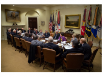 Photo Credit: The While House - President Barack Obama holds an Affordable Care Act meeting with health insurance company CEOs in the Roosevelt Room of the White House, Nov. 15, 2013.