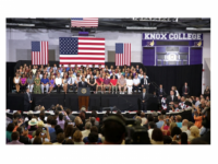 President Barack Obama delivers a speech on the economy at Knox College in Galesburg, Ill., July 24, 2013. (Official White House Photo by Lawrence Jackson)