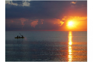Photo credit: Wikimedia Commons - Sunset on the sea at Seven Mile Beach, Negril, Jamaica.