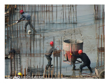Photo Credit: China Daily - Workers at a construction site in Yichang, Hubei province.