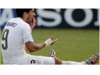 Uruguayan striker Luis Suarez, awaiting disciplinary action by FIFA by 5p.m. Wednesday.