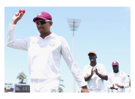 Photo credit: ESPNcricinfo- Of Sunil Narine's 21 Test wickets, 18 have come in three Tests against New Zealand.