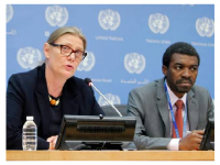 "© UN photo/Devra BerkowitzPress conference - ""Rebuilding Timbuktu: The restoration of an intellectual and spiritual capital and its vital role in Mali's post-conflict recovery"""
