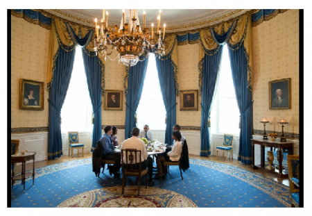 Photo credit: The White House - President Barack Obama hosts Education Secretary Arne Duncan and a group of teachers for lunch in the Blue Room of the White House.