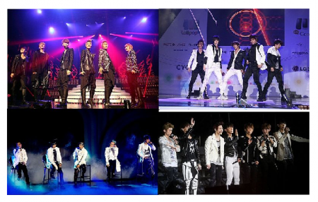 Photo Credit: Wikimedia Commons - K-pop boybands clockwise from left: HITT, MBLAQ, BIig Bang and Exo.