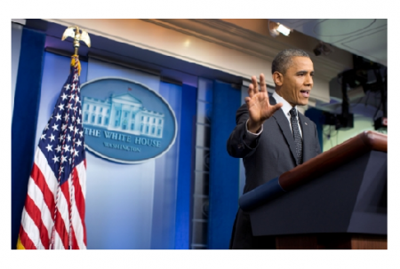 Photo Credit: The White House - President Barack Obama holds a press conference in the James S. Brady Press Briefing Room of the White House.
