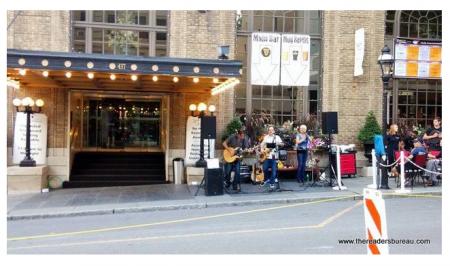 Performance outside of Hotel Bethlehem during Musikfest.