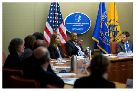 Photo Credit: The White House - President Barack Obama convenes briefing on the Ebola virus.