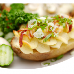 How To Make Baked Potato, Carrot And Cauliflower In Cheddar Cheese And Mustard Sauce