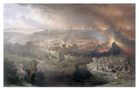 Photo Credit: Wikipedia - Roman siege and destruction of Jerusalem (David Roberts, 1850).