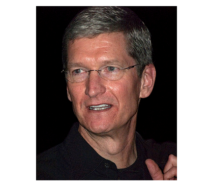 Photo Credit: Wikipedia by Valery Marchive (LeMagIT) - Tim Cook.