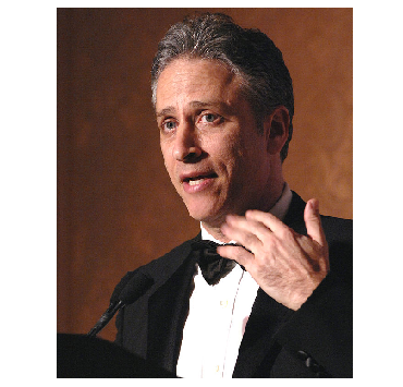 """Photo Credit: Wikipedia - Jon Stewart, host of Comedy Central's """"The Daily Show""""."""