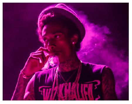 Rapper Wiz Khalifa
