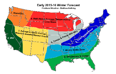 2015 16 weather forecasts colder south and east coast but warmer