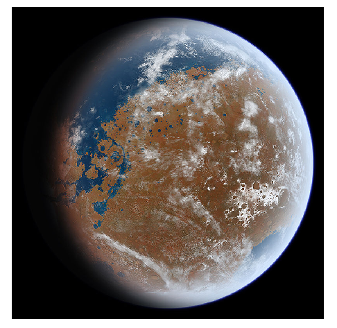 Photo Credit: Ittiz - An artist's impression of what ancient Mars may have looked like, based on geological data.