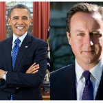 President Obama Gives Britain's Prime Minister David Cameron A Buzz…