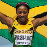 Shelly-Ann Fraser-Pryce In Warm Up Exercise