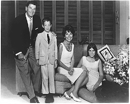 Ronald Reagan with his family in 1967 Photo: The White House