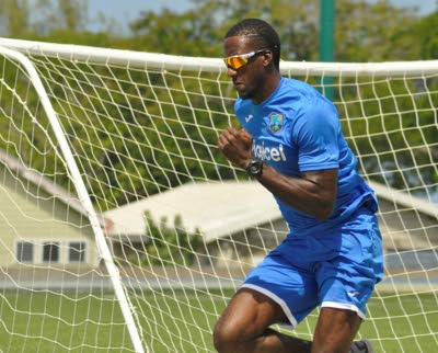 Photo credit: WICB Media Fast bowler Reynard Leveridge doing fitness work.